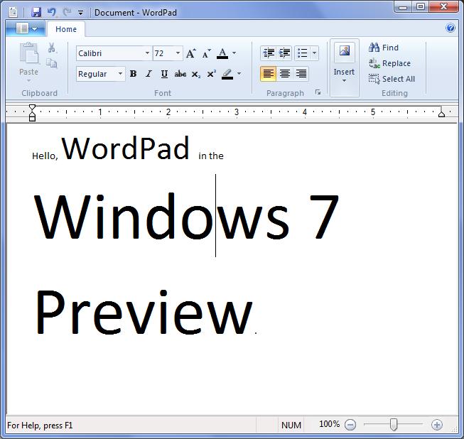 Download Microsoft WordPad app for free